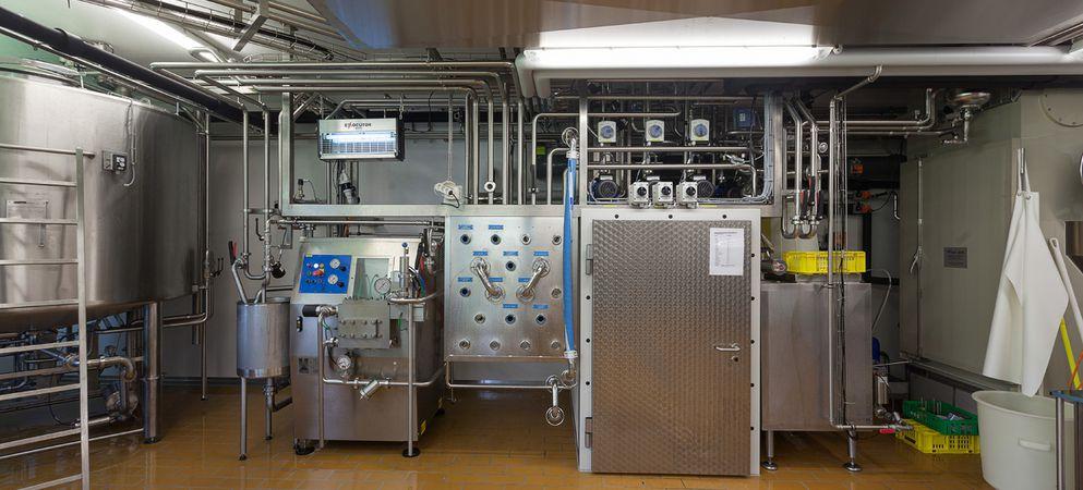 Spezialitätenraum für Molke- und Joghurtproduktion